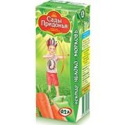 Сады Придонья Нектар Яблоко-морковь с мякотью с 6 мес 0,2 л