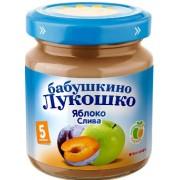 Бабушкино лукошко Пюре Яблоко-Слива с 5 мес 100 г
