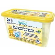 BABYLINE Био растворимые капсулы для стирки детских вещей 22 капсулы