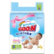 Японские подгузники Goon S (4 - 8 кг) 21 шт
