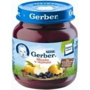 Gerber пюре Яблоко и Черника с 4 х мес 130 гр