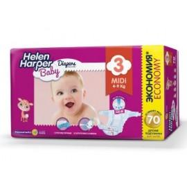 Helen Harper Baby Подгузники midi (4-9 кг) 70 шт