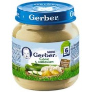 Gerber пюре Соте с кабачком 130 гр с 5 мес