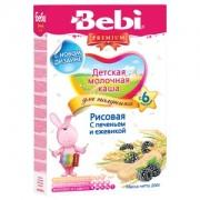 Bebi Premium Каша молочная Рисовая для полдника с печеньем и ежевикой с 6 мес 200г