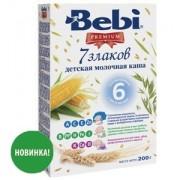 Bebi Premium Каша молочная 7 злаков с 6 мес 200г