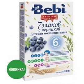 Bebi Premium Каша молочная 7 злаков с черникой с 6 мес 200г