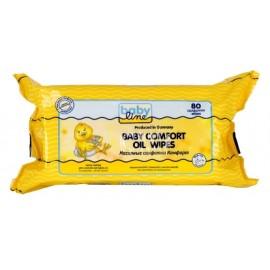 BABYLINE Детские масляные салфетки 80 шт