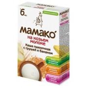 МАМАКО Каша Пшеничная с грушей и бананом на козьем молоке с 6 мес 200 г