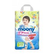 Японские подгузники-трусики Moony для девочек и мальчиков M (6-10 кг) 58 шт