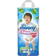 Японские подгузники-трусики Moony для мальчиков XL (12-17 кг) 38 шт