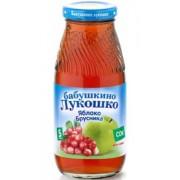 Бабушкино лукошко Сок Яблоко-Брусника осветленный с 5 мес 200 мл