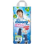 Японские подгузники-трусики Moony для мальчиков XXL (13-25 кг) 26 шт