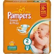 Pampers Подгузники Sleep and Play 2 (3-6 кг) 88 шт