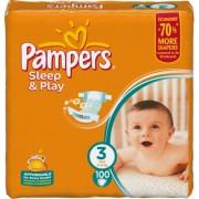 Pampers Подгузники Sleep and Play 3 (4-9 кг) 100 шт