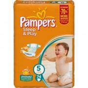 Pampers Подгузники Sleep and Play 5 (11-18 кг) 74 шт
