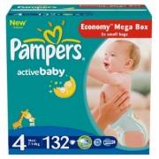 Pampers Подгузники Active Baby 4 (7-14 кг) 132 шт