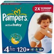 Pampers Подгузники Active Baby 4+ (9-16 кг) 120 шт