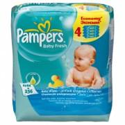 Pampers Влажные салфетки Baby Fresh 4 x 64 шт