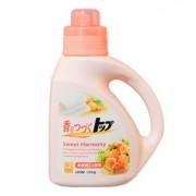 LION Жидкое средство для стирки ТОП с ароматом цветов и апельсина с кондиционером 900 мл