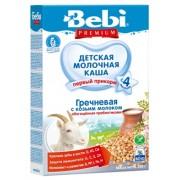 Bebi Premium Гречневая с козьим молоком, обогащенная пребиотиками с 4 мес. 200 гр