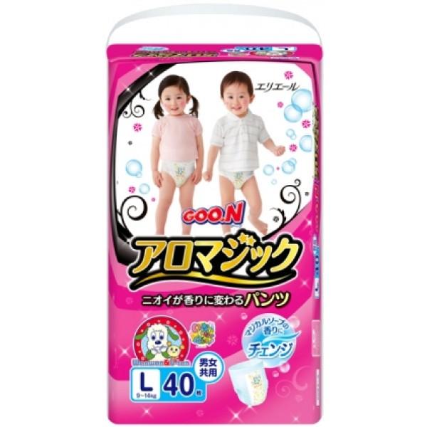 Японские трусики Goon Aromagic L (9-14 кг) 40 шт