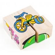 ТОМИК Кубики сложи рисунок: Игрушки 4 шт