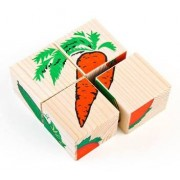 ТОМИК Кубики сложи рисунок: Овощи 4 шт