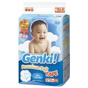Японские подгузники Genki S (4-8 кг) 72 шт