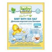 BABYLINE Nature Детская морская соль для ванн натуральная в фильтр пакетах 2 шт 0+ мес 500г