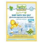 BABYLINE Nature Детская морская соль для ванн с чередой в фильтр пакетах 2 шт 0+ мес 500г