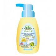 BABYLINE Детское средство для купания и шампунь 2 в 1 оливковое масло с дозатором 0+ мес 250+10 мл