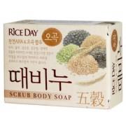 CJ Lion Скраб-мыло туалетное Rice Day с экстрактом пяти злаков 100 г
