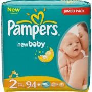 Pampers Подгузники New Baby 2 (3-6 кг) 94 шт.