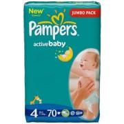 Pampers Подгузники Active Baby 4 (7-14 кг) 70 шт