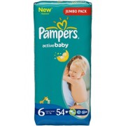 Pampers Подгузники Active Baby 6 (15+ кг) 54 шт