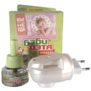 INSECTO БЭБИ-ДЭТА  Комплект для защиты детей от комаров (фумигатор +жидкость) 45 ночей