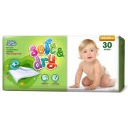 Helen Harper Детские одноразовые впитывающие пеленки Soft&Dry 60х60 см 30 шт