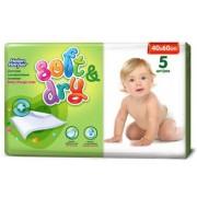 Helen Harper Детские одноразовые впитывающие пеленки Soft&Dry 60х40 см 5 шт