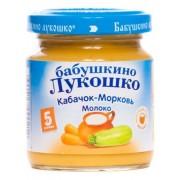Бабушкино Лукошко Пюре Кабачок-Морковь с молоком с 5 мес 100г