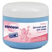 Sanosan Детский крем для ухода с оливковым маслом и молочным протеином 150 мл.