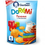 Gerber Печенье с 5 витаминами DoReMi с 1 года, 160 гр
