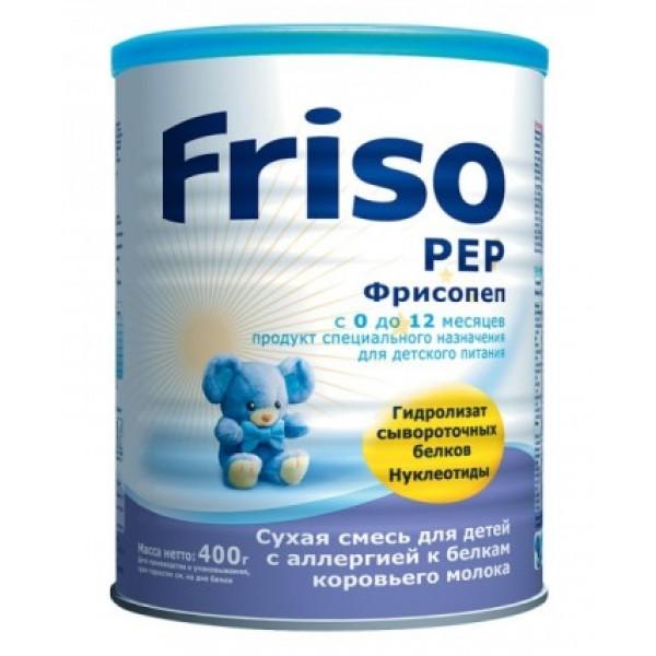 Friso Смесь Фрисопеп с нуклеотидами при аллергии на молоко и сою с рождения 400г