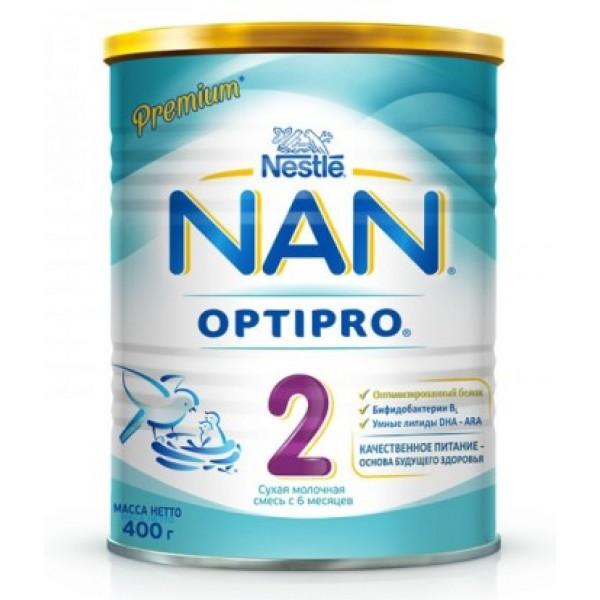 Детская молочная смесь nan 2 (с 6 до 12 месяцев) 400 г