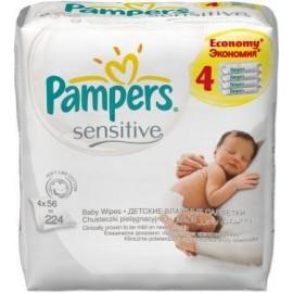 Pampers Влажные салфетки Sensitive 4 x 56 шт