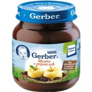 Gerber Яблоко, чернослив с 4 мес. 130 г.