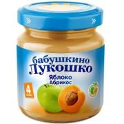 Бабушкино лукошко Пюре яблоко-абрикос с 4 мес. 100г.
