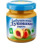 Бабушкино лукошко Пюре персик без сахара с 4 мес. 100г.