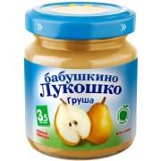 Бабушкино лукошко Пюре груша без сахара с 3,5 мес. 100г.