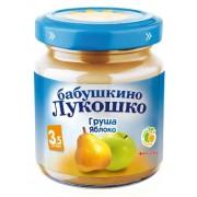 Бабушкино лукошко Пюре груша-яблоко без сахара с 3,5 мес. 100г.