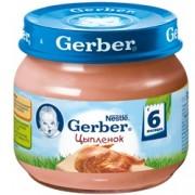 Gerber Пюре Цыпленок в собственном соку с 6 мес. 80г.